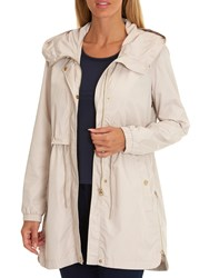Betty Barclay Hooded Parka Coat Silky Beige