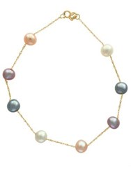 Effy 6Mm Pearl And 14K Yellow Gold Bracelet