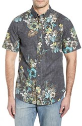 Reyn Spooner Pupas And Mai Tais Regular Fit Sport Shirt Black