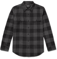 Filson Checked Cotton Flannel Shirt Gray