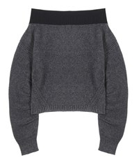 Opening Ceremony Off The Shoulder Wool Blend Sweater Grey