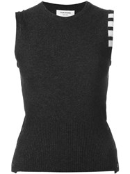 Thom Browne Sleeveless Contrast Sweatshirt Grey
