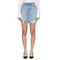Grlfrnd Blue Denim Rhoda Skirt