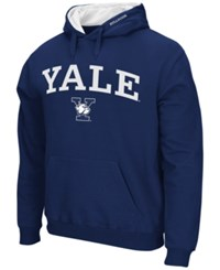 Colosseum Men's Yale Bulldogs Arch Logo Hoodie Navy