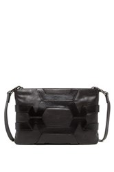 Christopher Kon Caged Leather Crossbody Clutch Black