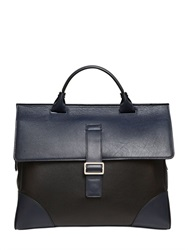 Mark Giusti Two Tone Leather Briefcase