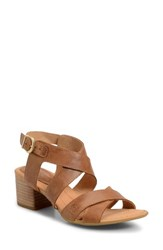 Brn Women's B Rn Alisha Block Heel Sandal Brown Leather