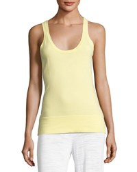 Minnie Rose Scoop Neck Knit Tank Plus Size Yellow