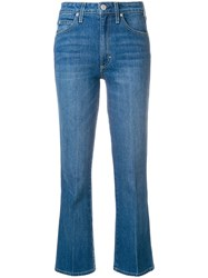 Amo Flared Cropped Jeans Blue