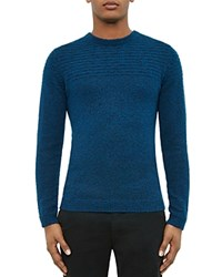 Ted Baker Marled Knit Crewneck Sweater Blue