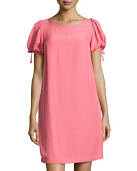 Red Valentino Tie Back Short Sleeve Shift Dress Peach