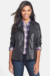Women's Bernardo Elongated Leather Moto Jacket