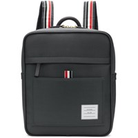 Thom Browne Grey Zip Top Book Backpack