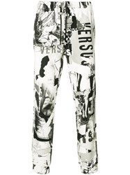 Versus Printed Trousers Cotton S White