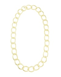 Lisa Freede Stardust Oversized Chain Necklace Golden
