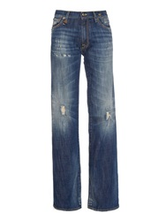 R 13 Jane Flared Leg Distressed Jeans