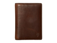 Frye David Bi Fold Whiskey Smooth Pull Up Bi Fold Wallet Brown
