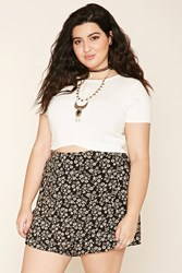 Forever 21 Plus Size Floral Wrap Skirt