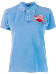 Polo Ralph Lauren Embroidered Flag Top Blue
