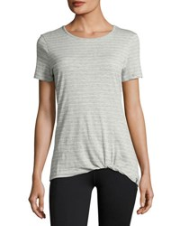 Marc New York Twisted Knot Striped Tee Light Gray