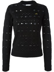 Bella Freud Heart Lace Jumper Black