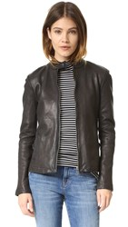 Atm Anthony Thomas Melillo Leather Moto Jacket Black