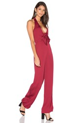 House Of Harlow X Revolve Coco Tie Front Jumpsuit Burgundy
