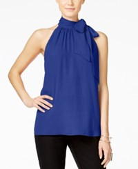 Inc International Concepts Tie Neck Halter Top Only At Macy's Egyptian Blue