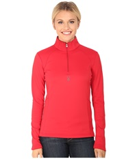 Spyder Savona Therma Stretch T Neck Vampire Women's Long Sleeve Pullover Red