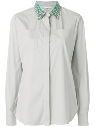 Mantu Embellished Collar Shirt Grey