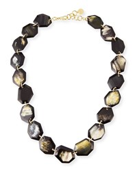 Nest Faceted Horn Station Necklace 34 L Mixed Horn