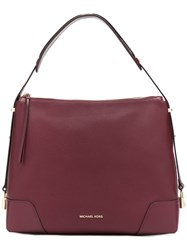 Michael Kors Large Crosby Shoulder Bag Red