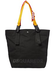 Dsquared Backpack Straps Logo Canvas Tote Bag Black