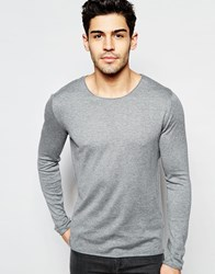 Selected Homme Lightweight Knitted Sweater Medium Gray Melange