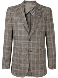 Cerruti 1881 Formal Plaid Blazer Brown