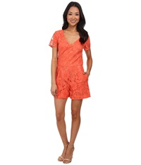 Trina Turk Florencia Romper Coral Women's Jumpsuit And Rompers One Piece
