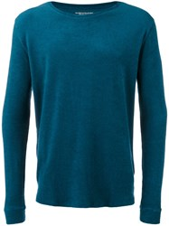 Majestic Filatures French Terry Sweater Men Cotton Modal L Blue