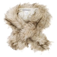 Chesca Faux Fur Scarf Cream