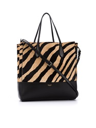 Rochas Zebra Tote Bag Black