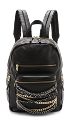 Ash Small Domino Chain Backpack Black