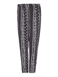 Yumi Printed Trousers Black