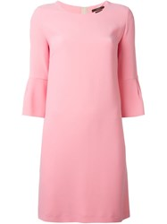Odeeh Flared Cuff Shift Dress Pink And Purple