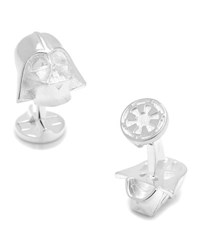 Cufflinks Inc. Star Wars Darth Vader Sterling Silver Cuff Links No Color