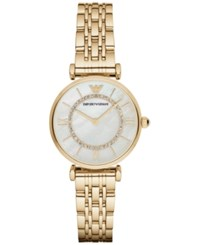 Emporio Armani Women's Gianni T Bar Gold Tone Stainless Steel Bracelet Watch 32Mm Ar1907