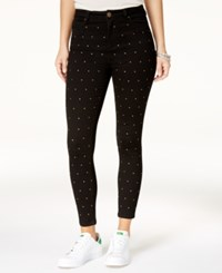 Tinseltown Juniors' Studded Skinny Jeans Black With Studs No Zipper