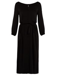 Velvet By Graham And Spencer Felicitee Tie Waist Dress Black