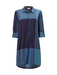 White Stuff Azure Check Tunic Ink