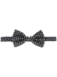 Dolce And Gabbana Patterned Bow Tie Black