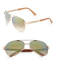 Vince Camuto 63.5Mm Aviator Sunglasses Rosegold