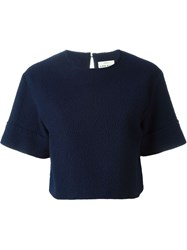 Simon Miller Cropped Short Sleeve Sweater